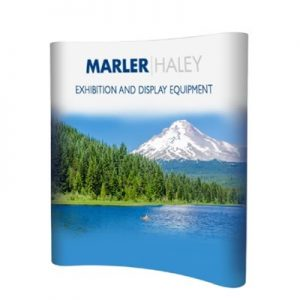 3x2 curved pop-up stand - by Marler Haley