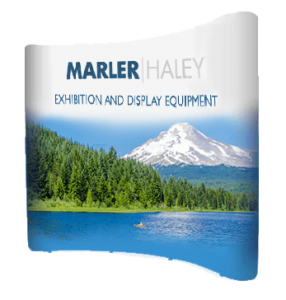 3x3 curved pop-up stand - by Marler Haley