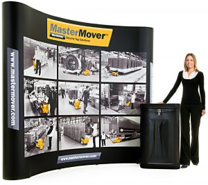 3x3 straight pop-up stand - by XL Displays