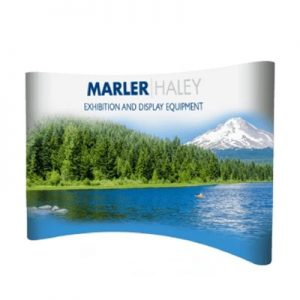 3x4 curved pop-up stand - by Marler Haley