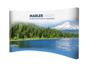 3x5 curved pop-up stand - by Marler Haley