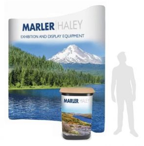 4x3 curved pop-up stand - by Marler Haley