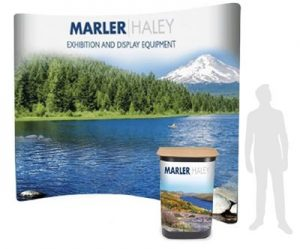 4x4 curved pop-up stand - by Marler Haley