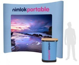 4x4 curved pop-up stand - by Nimlok