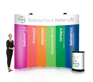 4x4 straight pop-up stand - by XL Displays