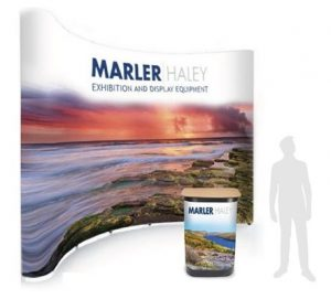 4x5 curved pop-up stand - by Marler Haley