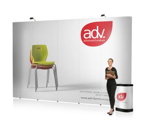 4x5 straight pop-up stand - by XL Displays