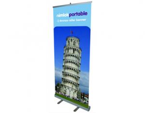 80cm to 90cm wide pop up banner - by Nimlok
