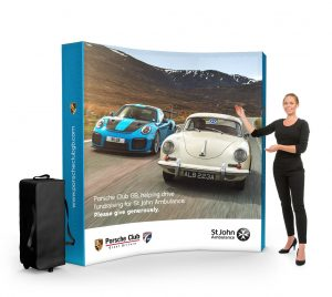 3x3 fabric pop-up stand - by XL Displays