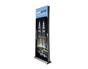 80cm to 100cm Double sided pop up banner - by Nimlok
