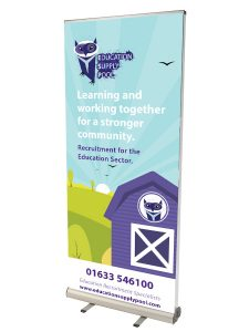 80cm to 100cm Double sided pop up banner - by XL Displays