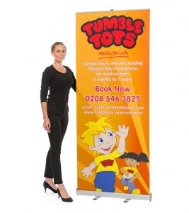 80cm to 90cm wide pop up banner - by XL Displays