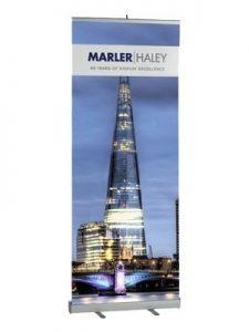 80cm to 90cm wide pop up banner - by Marler Haley