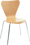 Beech Chair with Metal Legs – by D-Zine
