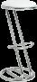 Padded Chrome Z Stool – by D-Zine