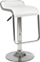 Square Bar Stool with Chrome Leg and Foot Rest – by D-Zine