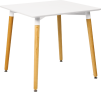 Square White Table Wooden Legs – by D-Zine